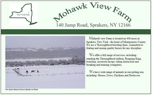 Mohawk View Farm